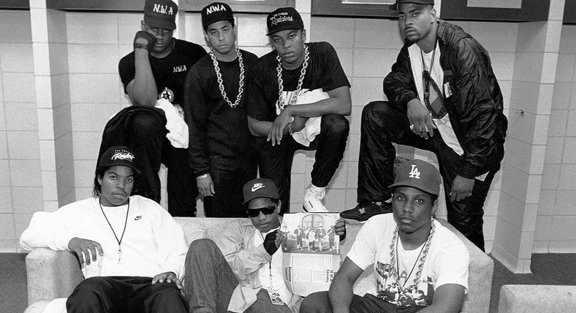 The NWA rap group, photographer: Raymond Boyd